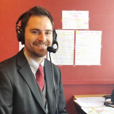 David Tukesbrey : Announcer/Sports Assistant & Voice of Presentation College